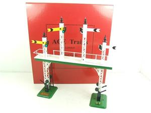 "Ace Trains O Gauge ACS/3 Signal Gantry ""Distant"" Yellow Fish Tail Signal Arms Edition Electric image 2"