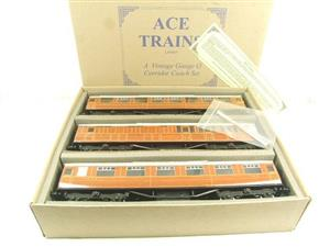 "Ace Trains O Gauge C4 LNER ""The Flying Scotsman"" x3 Corridor Coaches Set B Boxed image 1"