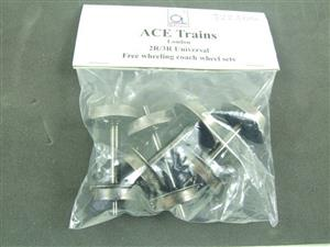 Ace Trains O Gauge x4 Universal Coach Wheels Suitable For 2/3 Rail Running image 1