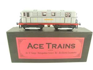 "Ace Trains O Gauge E17 ""London Transport Grey"" Metropolitan Bo Bo Loco No 14 Electric 2/3 Rail image 1"
