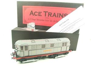 "Ace Trains O Gauge E17 ""London Transport Grey"" Metropolitan Bo Bo Loco No 14 Electric 2/3 Rail image 2"