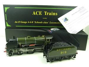 "Ace Trains O Gauge E10 SR Schools Class ""Harrow"" R/N 919 Electric 2/3 Rail Boxed image 3"
