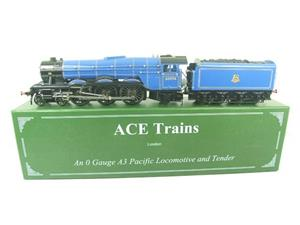 "Ace Trains O Gauge E6 A3 Pacific BR Blue ""Papyrus"" R/N 60096 Electric 3 Rail Bxd image 1"