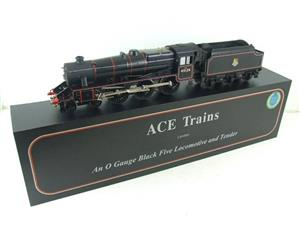 Ace Trains O Gauge E19-C1 BR Satin Black 5 Loco & Tender R/N 45126 Electric 2/3 Rail Bxd image 3