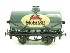 "Ace Trains O Gauge G1 Four Wheel Gargoyle ""Mobiloil"" Grey Fuel Tanker Tinplate image 1"