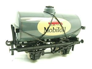 "Ace Trains O Gauge G1 Four Wheel Gargoyle ""Mobiloil"" Grey Fuel Tanker Tinplate image 2"
