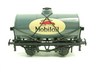 "Ace Trains O Gauge G1 Four Wheel Gargoyle ""Mobiloil"" Grey Fuel Tanker Tinplate image 7"