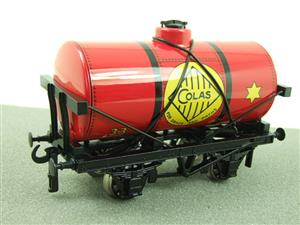 "Ace Trains O Gauge G1 Four Wheel ""Colas 33"" Red Fuel Tanker Wagon image 3"