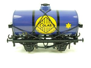 "Ace Trains O Gauge G1 Four Wheel Blue ""Colas"" 33 Fuel Tanker Tinplate image 1"
