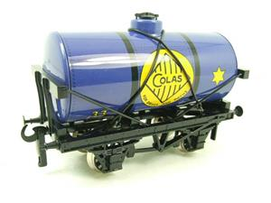 "Ace Trains O Gauge G1 Four Wheel Blue ""Colas"" 33 Fuel Tanker Tinplate image 2"