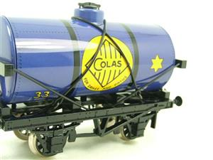 "Ace Trains O Gauge G1 Four Wheel Blue ""Colas"" 33 Fuel Tanker Tinplate image 8"
