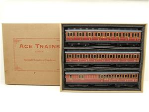 Ace Trains O Gauge C1 LMS x3 Clerestory Roof Passenger Coaches Set Boxed image 1