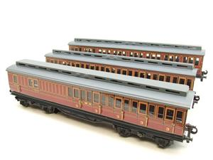 Ace Trains O Gauge C1 LMS x3 Clerestory Roof Passenger Coaches Set Boxed image 2