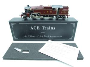 Ace Trains O Gauge E8 LMS Maroon Stanier Tank Loco R/N 2465 Electric 2/3 Rail Boxed image 1
