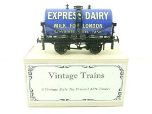 "ACE Trains - Darstaed O Gauge Blue ""Express Dairy Milk"" Tanker Wagon Boxed image 1"
