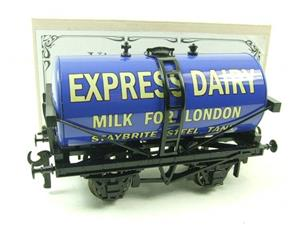 "ACE Trains - Darstaed O Gauge Blue ""Express Dairy Milk"" Tanker Wagon Boxed image 2"