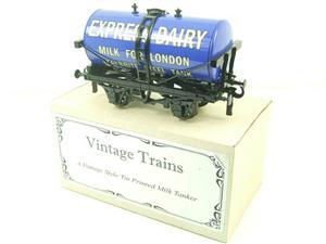 "ACE Trains - Darstaed O Gauge Blue ""Express Dairy Milk"" Tanker Wagon Boxed image 3"