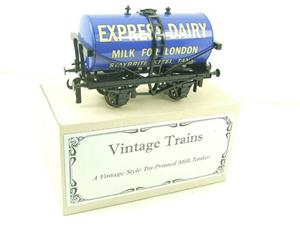 "ACE Trains - Darstaed O Gauge Blue ""Express Dairy Milk"" Tanker Wagon Boxed image 4"