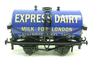 "ACE Trains - Darstaed O Gauge Blue ""Express Dairy Milk"" Tanker Wagon Boxed image 7"