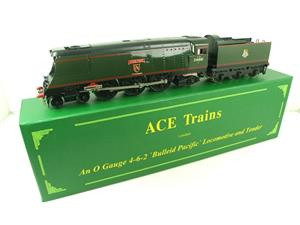 "Ace Trains O Gauge E9 Bulleid Pacific BR ""Exeter"" R/N 34001 Electric 2/3 Rail Bxd image 2"