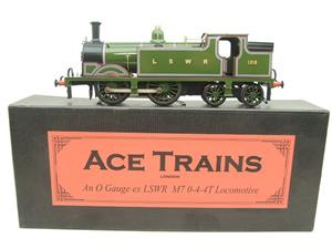 Ace Trains O Gauge E24A M7 Class LSWR Green Tank Loco 0-4-4 R/N 108 Electric 2/3 Rail Boxed image 1