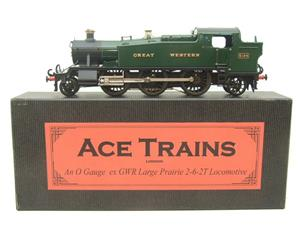 "Ace Trains O Gauge E29A GW ""Great Western"" Green 2-6-2 Prairie Tank Loco R/N 5164 Electric 2/3 Rail image 1"