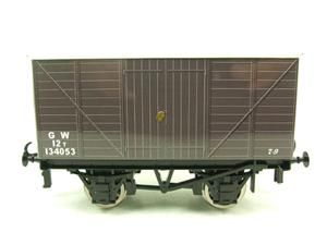 "Ace Trains O Gauge G2 Private Owned Tinplate ""GW"" Goods Van R/N 134053 image 7"