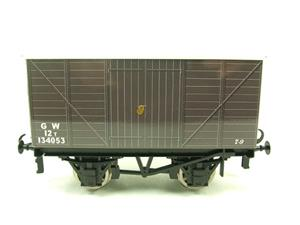 "Ace Trains O Gauge G2 Private Owned Tinplate ""GW"" Goods Van R/N 134053 image 10"