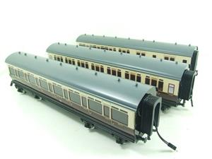 Darstaed O Gauge GWR Corridor Coaches x3 Set 2/3 Rail Bxd Set A image 2