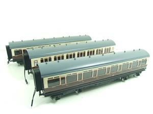 Darstaed O Gauge GWR Corridor Coaches x3 Set 2/3 Rail Bxd Set A image 3