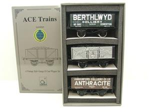 "Ace Trains O Gauge G/5 WS1 Private Owner ""South Wales"" Coal Wagons x3 Set 1 Bxd image 1"