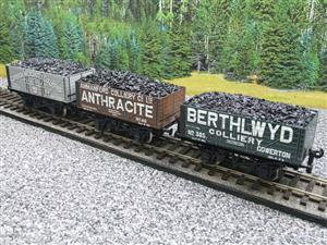 "Ace Trains O Gauge G/5 WS1 Private Owner ""South Wales"" Coal Wagons x3 Set 1 Bxd image 7"