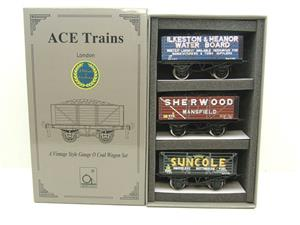 "Ace Trains O Gauge G/5 WS2 Private Owner ""Midlands"" Coal Wagons x3 Set 2 Bxd image 1"