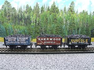 "Ace Trains O Gauge G/5 WS2 Private Owner ""Midlands"" Coal Wagons x3 Set 2 Bxd image 5"
