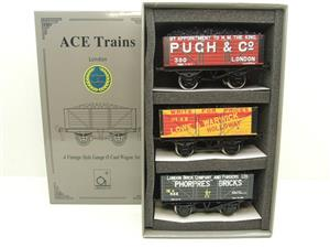 "Ace Trains O Gauge G/5 WS3 Private Owner ""London"" Coal Wagons x3 Set 3 Bxd image 1"