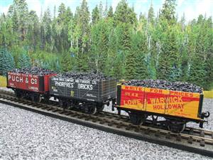 "Ace Trains O Gauge G/5 WS3 Private Owner ""London"" Coal Wagons x3 Set 3 Bxd image 2"