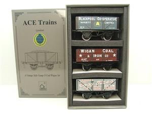 "Ace Trains O Gauge G/5 WS4 Private Owner ""North West"" Coal Wagons x3 Set 4 Bxd image 1"
