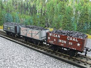 "Ace Trains O Gauge G/5 WS4 Private Owner ""North West"" Coal Wagons x3 Set 4 Bxd image 2"