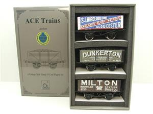 "Ace Trains O Gauge G/5 WS5 Private Owner ""West Country"" Coal Wagons x3 Set 5 Bxd image 1"