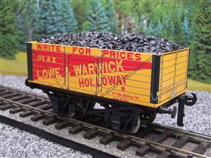 "Ace Trains O Gauge G/5 Private Owner ""Lowe & Warwick"" No.42 Coal Wagon 2/3 Rail image 2"