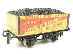 "Ace Trains O Gauge G/5 Private Owner ""Lowe & Warwick"" No.42 Coal Wagon 2/3 Rail image 3"