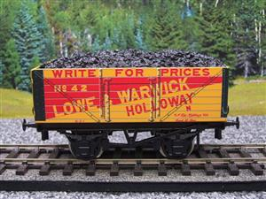 "Ace Trains O Gauge G/5 Private Owner ""Lowe & Warwick"" No.42 Coal Wagon 2/3 Rail image 5"