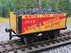 "Ace Trains O Gauge G/5 Private Owner ""Lowe & Warwick"" No.42 Coal Wagon 2/3 Rail image 8"
