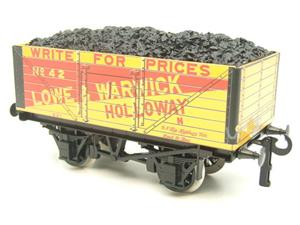 "Ace Trains O Gauge G/5 Private Owner ""Lowe & Warwick"" No.42 Coal Wagon 2/3 Rail image 9"