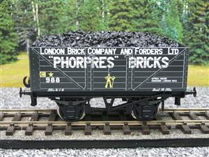 "Ace Trains O Gauge G/5 Private Owner ""Phorpres Bricks"" No.988 Coal Wagon 2/3 Rail image 1"