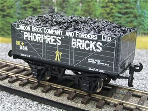 "Ace Trains O Gauge G/5 Private Owner ""Phorpres Bricks"" No.988 Coal Wagon 2/3 Rail image 3"