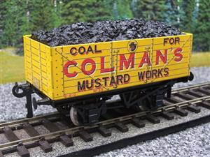 "Ace Trains O Gauge G/5 Private Owner ""Colmans Mustard Works"" No.35 Coal Wagon 2/3 Rail image 3"