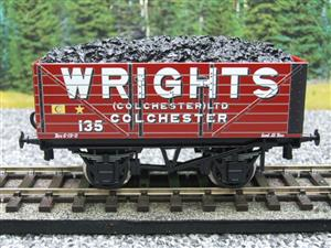 "Ace Trains O Gauge G/5 Private Owner ""Wrights"" No.135 Coal Wagon 2/3 Rail image 8"