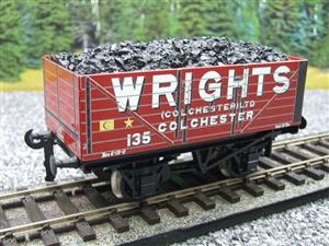 "Ace Trains O Gauge G/5 Private Owner ""Wrights"" No.135 Coal Wagon 2/3 Rail image 10"