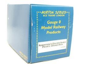 "Ace Trains Horton Series O Gauge Private Owner ""Robertsons Golden Shred"" Van Boxed image 7"